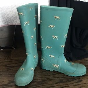 Jcrew dog theme rain boots
